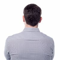 Back view of middle aged man